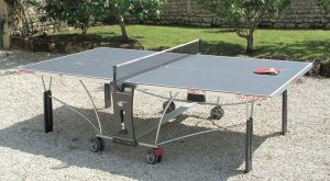 Material of outdoor table tennis table